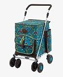 Sholley Trolley Deluxe Serie – 'The Covent Garden Regulular' Einkaufstrolley, Einkäufer, Schiebewagen, 4 (6) Räder, faltbar, stark, stabil, unterstützt Mobilität, für Damen, Herren und Unisex Designs