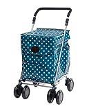 Original Sholley Deluxe 'Portobello' Faltbare Einkaufstrolley, Einkaufswagen mit Rädern, Einkaufsroller klappbar. Handwagen, Einkaufstache aüf Rädern, 4 Räder, 6 Räder