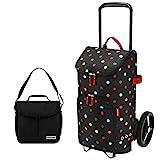 Reisenthel citycruiser Rack + citycruiser Bag 45 l Einkaufstrolley dots + Promo Zugabe