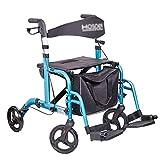 Transportwagen Einkaufstrolleys Einkaufswagen Altenwagen Senior Einkaufswagen Einkaufshilfe für Lebensmittel 130 kg tragen (Color : Blue, Size : 45 * 24 * 53cm)