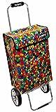 james® Einkaufstrolley Design Confetti Deluxe, moderner Einkaufswagen, bunter Lifestyle Trolly, Rollkoffer, 40kg Tragkraft, klappbar, Made in EU!