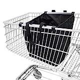 achilles Easy-Shopper Alu, Faltbare Einkaufswagentasche, Einkaufstasche passend für alle gängigen Einkaufswagen, schwarz, 33x50x38cm