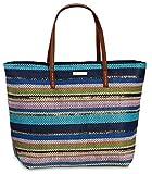 Strandtasche - Einkaufstasche, Tasche - Shopper - Einkaufsshopper Blau oder Rot (blau)